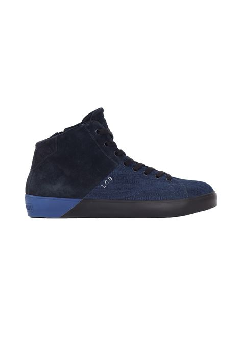 Sneakers bicolore in denim e suede LEATHER CROWN | Sneakers | MLC28-13 ALTA BICOL.DENIM BLU