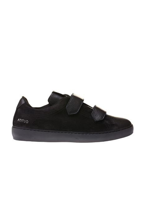 SNEAKERS ATITUD IN SUEDE E CERVO LEATHER CROWN | Sneakers | MROYAL-5 BASSA CERVONERO