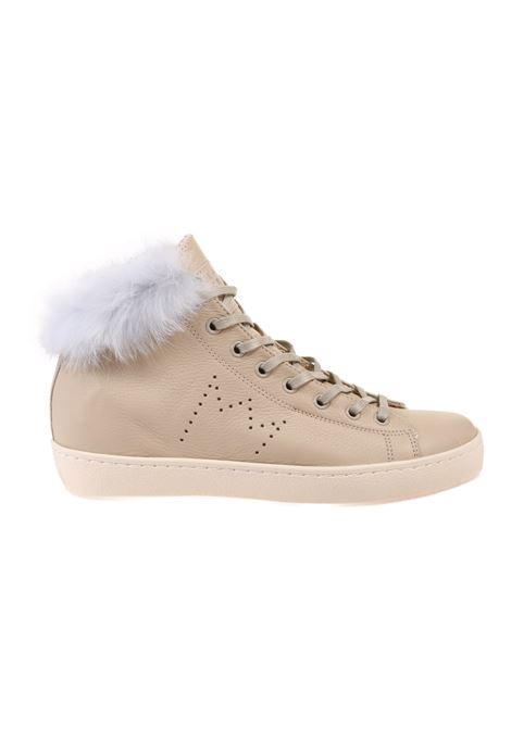 SNEAKERS IN CERVO LEATHER CROWN | Sneakers | W133LAPIN-2 ALTA CERVOBEIGE