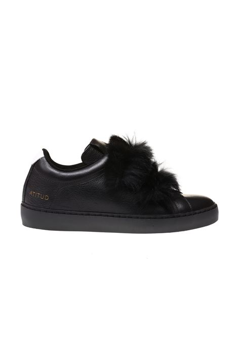SNEAKERS ATITUD IN PELLE LEATHER CROWN | Sneakers | WROYAL-9 LAPIN BASSA CERVONERO
