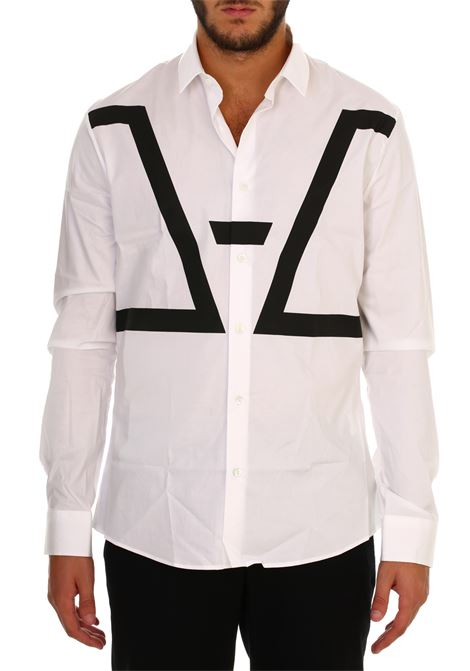 Camicia bianca in popeline stretch LES HOMMES | Shirts | URB600PUB500D1009