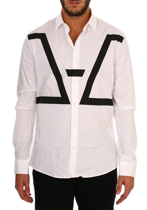 Camicia bianca in popeline stretch LES HOMMES | Camicie | URB600PUB500D1009