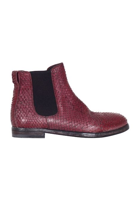 STIVALETTO IN PELLE PITONATA MOMA | Shoes | 74506V2BORDEAUX