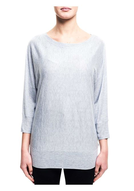 SILVER SWEATER IN MIXED NYLON AND CASHMERE MICHAEL DI MICHAEL KORS | Sweaters | MS66MWTOWP036