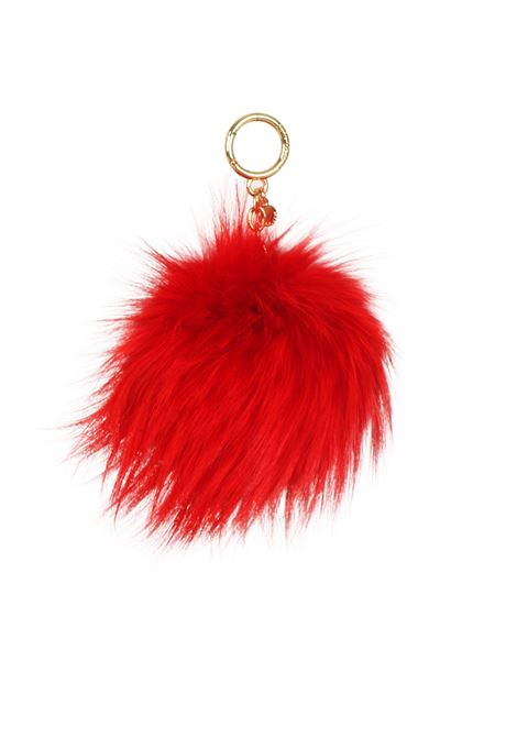 FUR KEY RING MICHAEL DI MICHAEL KORS | Key Rings | 32F6GKCK3FPOMPOMS204