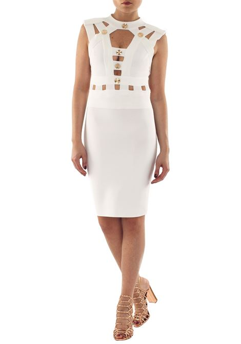 ELASTICIZED DRESS WOW COUTURE | Dress | K5269BIANCO