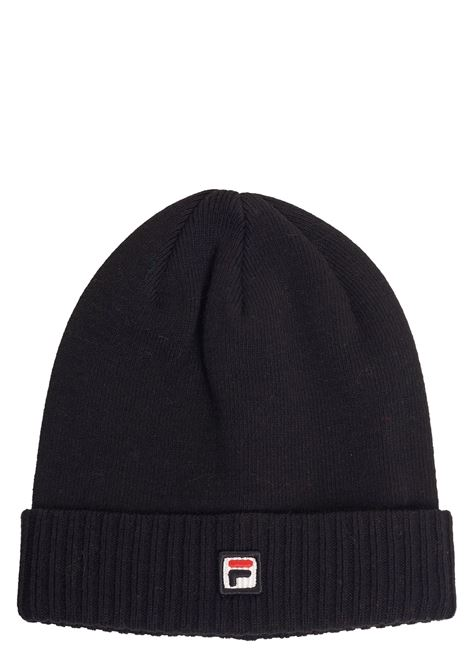 BLACK HAT WITH COTTON LOGO FILA | Hats | 686001002