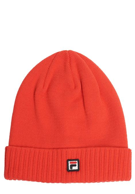 RED HAT WITH COTTON LOGO FILA | Hats | 686001K79