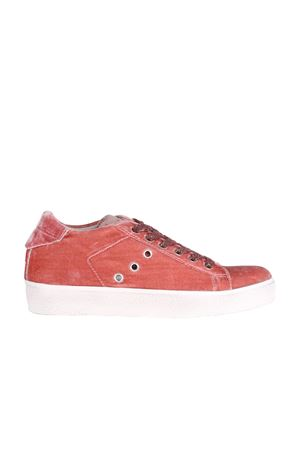SNEAKERS IN VELLUTO LEATHER CROWN | Sneakers | W136ROSA