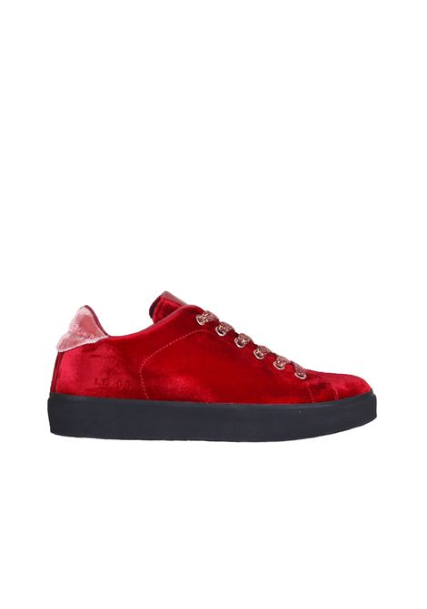 SNEAKERS IN VELVET LEATHER CROWN | Sneakers | WLC06CERVO/PONYBORDEAUX
