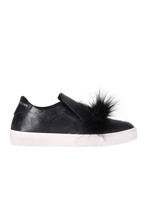 SLIP ON ''FUR MARMOTTA'' LEATHER CROWN | Shoes | WLC271