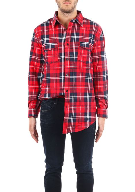 TARTAN SHIRT LES ARTISTS | Shirts | SHI2533ROROSSO