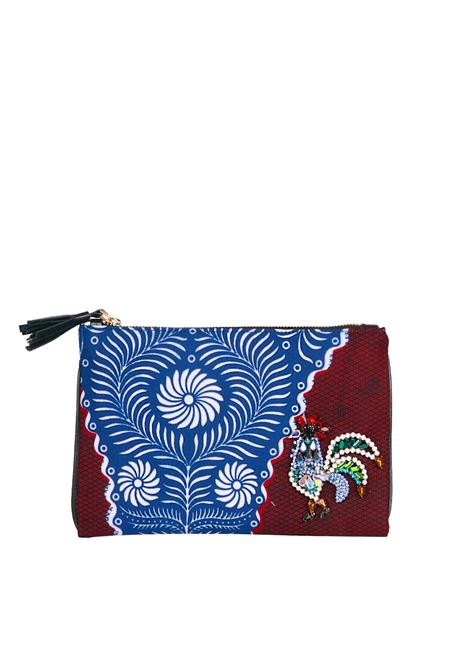 POCHETTE WITH APPLICATIONS Lisa C | Clutches | GAELA+SPILLAMULTICOLOR