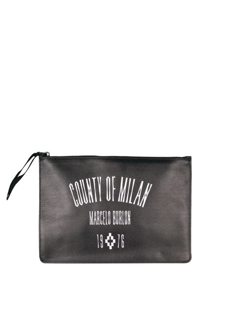CLUTCH 'JAK' LEATHER MARCELO BURLON | Clutches | CMNA008F174301201088