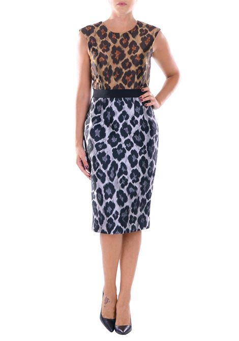 DRESS TWO-TONE JACQUARD ANIMALIER MARCO BOLOGNA | Dress | AB624MOL51