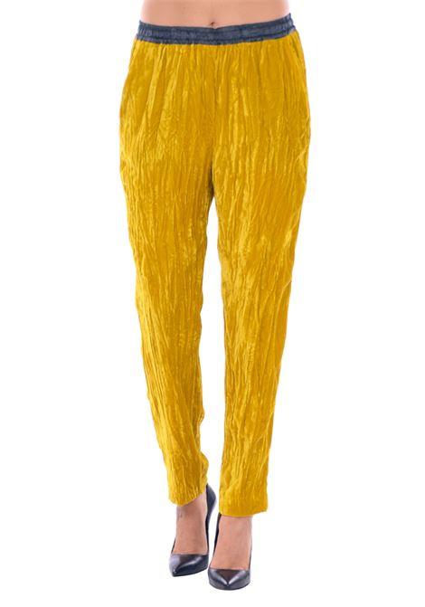 PANTALONE IN VELLUTO RICCIO Nude | Pantaloni | 1103024215