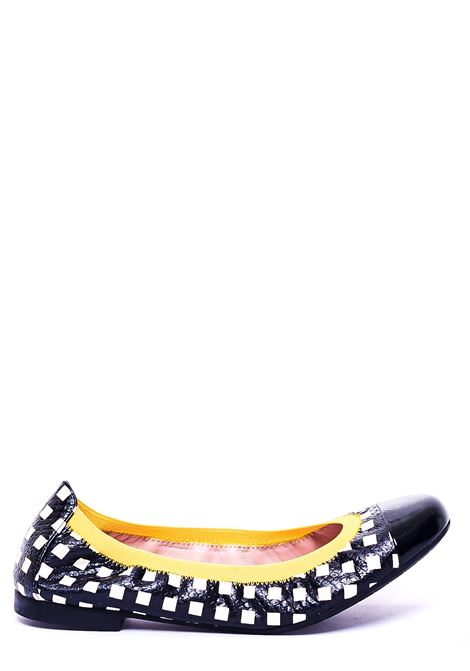 BALLERINA WITH CHECKED FANTASY PRETTY BALLERINAS | Ballerinas | 37190IPNOTICNERO/BIANCO