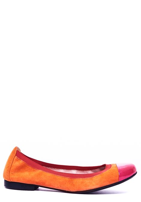 ORANGE BALLERINA WITH CONTRAST TOE PRETTY BALLERINAS | Ballerinas | 37190KLEEBIBIARANCIO
