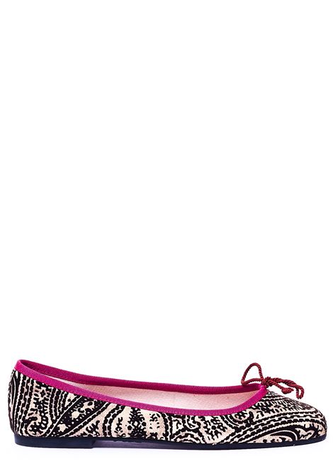 MULTICOLORED BALLERINA WITH CONTRASTING BORDER PRETTY BALLERINAS | Ballerinas | 37650TAPETOFANTASIA