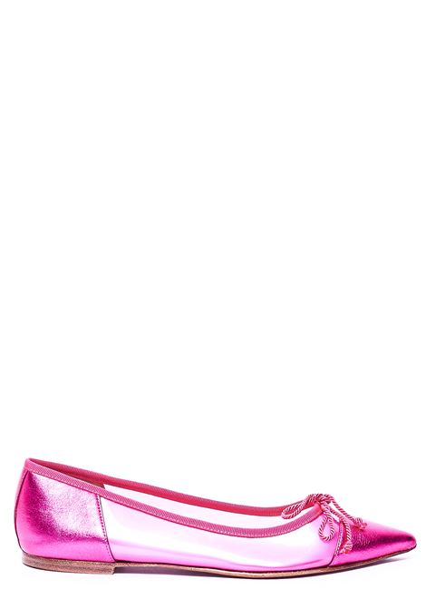 PINK BALLERINA WITH TRANSPARENT DETAIL PRETTY BALLERINAS | Ballerinas | 38159AMIFUCSIA