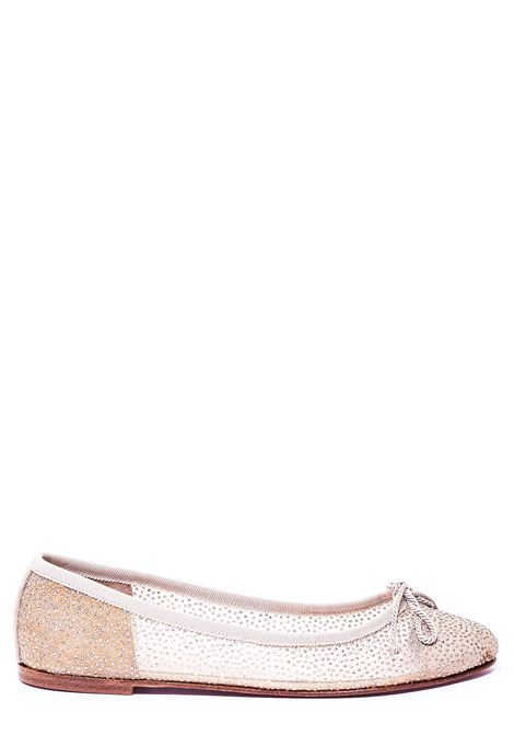 BEIGE BALLERINA WITH TRANSPARENT DETAIL PRETTY BALLERINAS | Ballerinas | 38187BEIGE