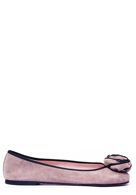 POWDER PINK BALLERINA WITH FRONT APPLICATION PRETTY BALLERINAS | Ballerinas | 41065ANGELISTUSINABEIGE