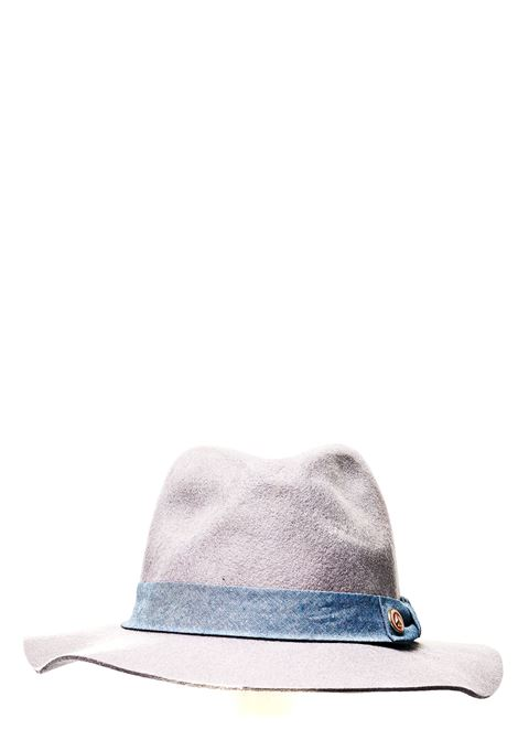 PINK WOOL HAT WITH FRONT BUTTON APPLICATION SCOTCH & SODA | Hats | 128334/1625grigio