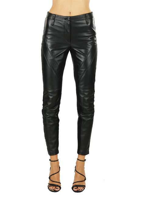 LEATHER TROUSERS ALBERTA FERRETTI | Pants | 37046675A0555