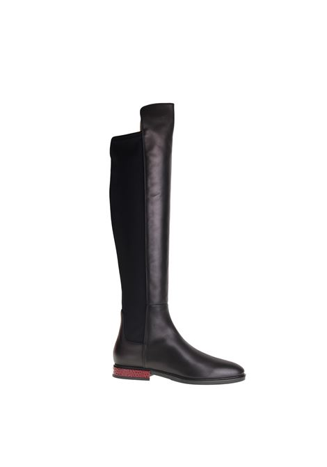 HIGH BOOT IN BLACK LEATHER ALBERTO GOZZI | Boots | RACH241NERO