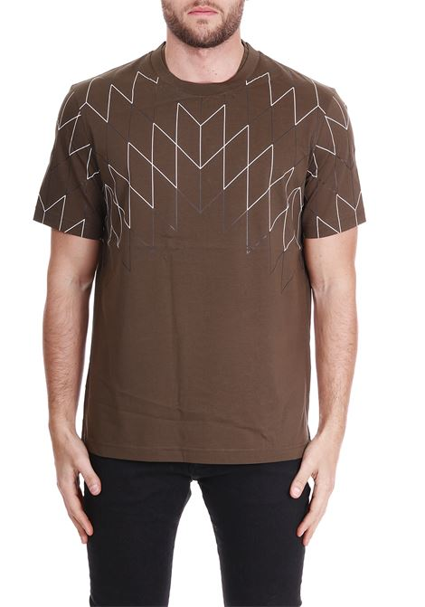 PRINTED T-SHIRT BLACKBARRETT | T-shirt | PXJT172VERDE