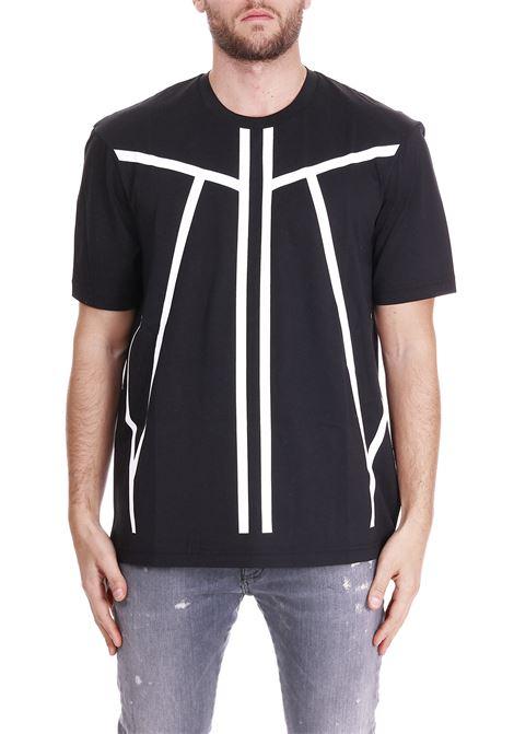 PRINTED T-SHIRT BLACKBARRETT | T-shirt | PXJT178NERO