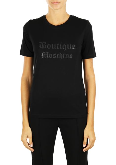 T-SHIRT WITH LOGO BOUTIQUE MOSCHINO | T-shirt | 12055840A3555