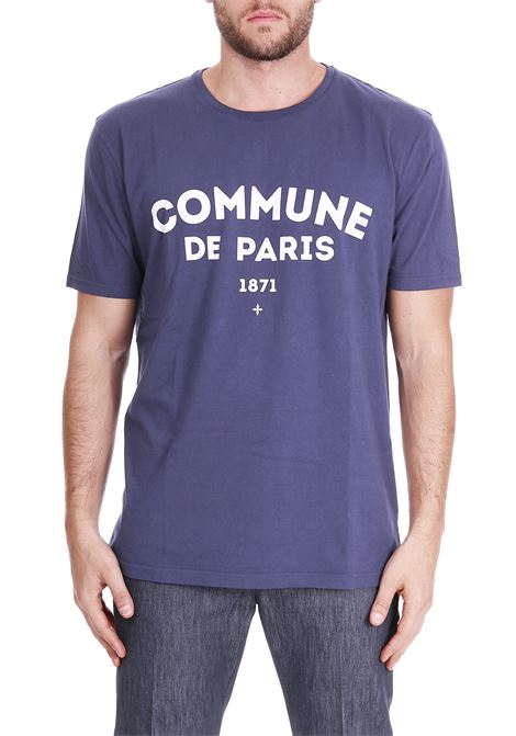 T-SHIRT WITH LOGO EMBROIDERY COMMUNE DE PARIS | T-shirt | TEEICIBLU