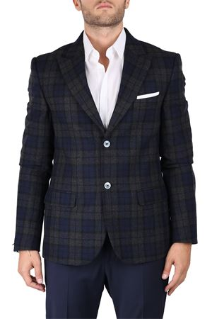 SINGLE-BREASTED CHECK FANTASY WOOL BLEND JACKET DANIELE ALESSANDRINI | Jackets | G2772S2126380623