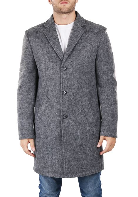 LONG MONOPETTO COAT DANIELE ALESSANDRINI | Coats | T444M486380610