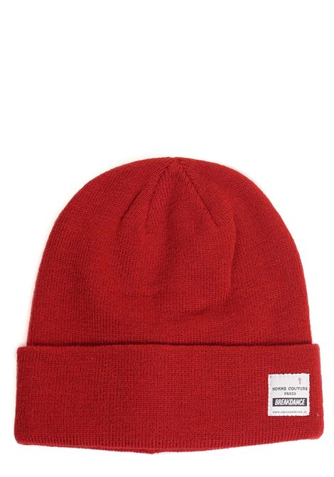 RED HAT WITH FRONT LOGO PLATE DANIELE ALESSANDRINI | Hats | U906038079