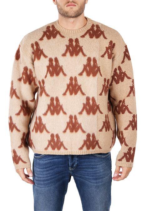 SWEATER WITH INTARSIO LOGO DANILO PAURA | Sweaters | DPK1007721BEIGE