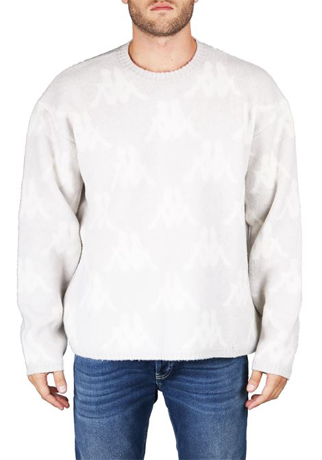 SWEATER WITH INTARSIO LOGO DANILO PAURA | Sweaters | DPK1007721GRIGIO