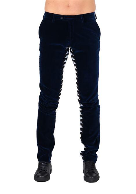 DANILO PAURA X KAPPA IN VELVET PANTS DANILO PAURA | Pants | DPK3003400BLU