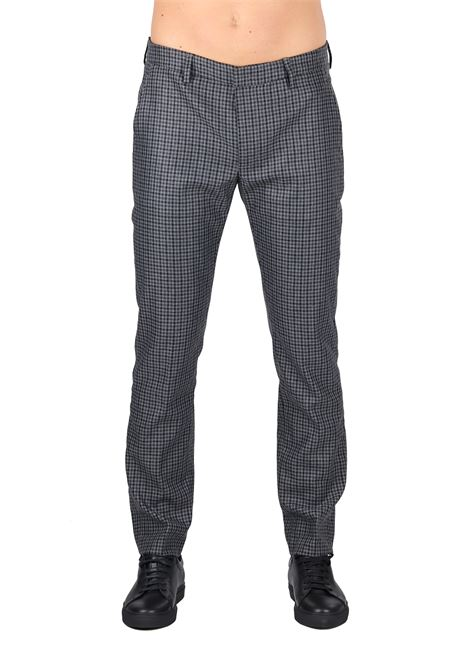 MICRO CHECK WOOL BLEND TROUSERS DONDUP | Pants | UP453QF0140XXXDUW18997