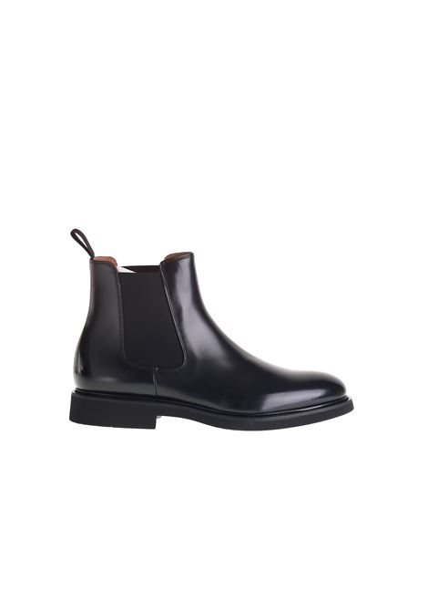 BLACK BRUSHED LEATHER BOOTS DUCA DI WELLS | Mid-Calf | DU1343GENOUF007NN00NERO