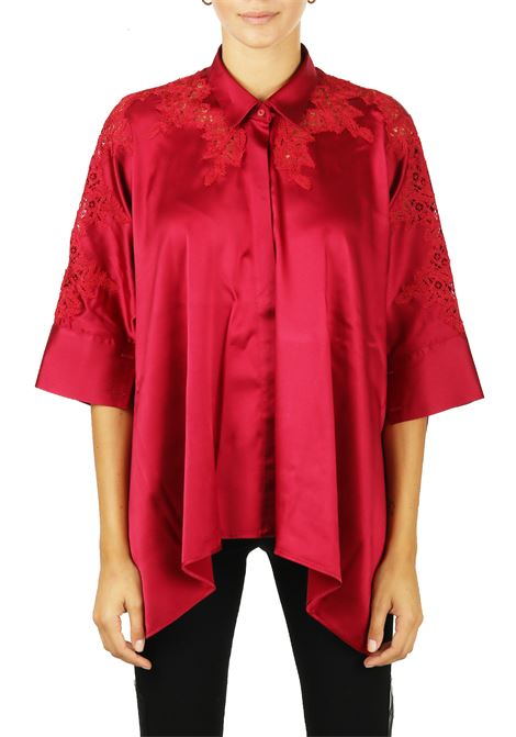 SHIRT IN SILK AND LACE WITH COLLAR ERMANNO SCERVINO | Shirts | D334K302RBV91656