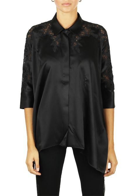 SHIRT IN SILK AND LACE WITH COLLAR ERMANNO SCERVINO | Shirts | D334K302RBV95708