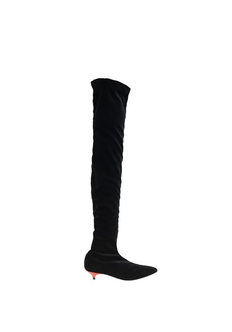 BOOTS IN VELVET GIA COUTURE | Boots | 4089GIABOOMBLACK