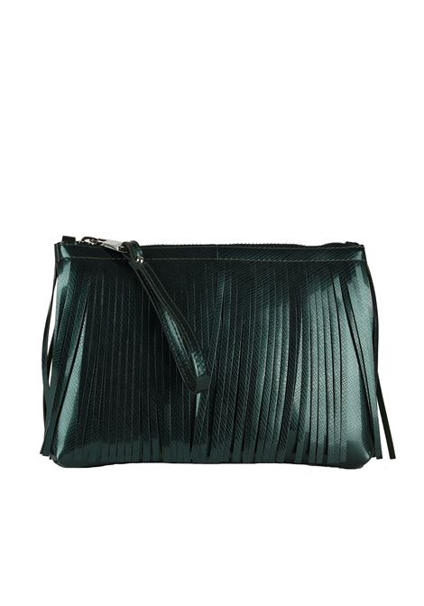POCHETTE IN LATTICE GUM | Pochette | BC3699/18AIGUMFRLMSMOKY GREEN