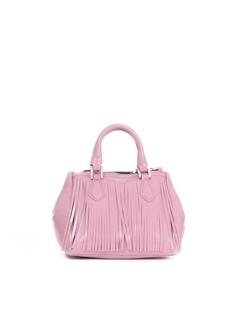 PVC BAG WITH FRINGES GUM | Bags | BS3679/18AIGLOSSYFRROSA