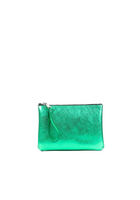 CLUTCH IN LAMINATED PVC GUM | Clutches | BSRAINBOWTRSPSMERALDO
