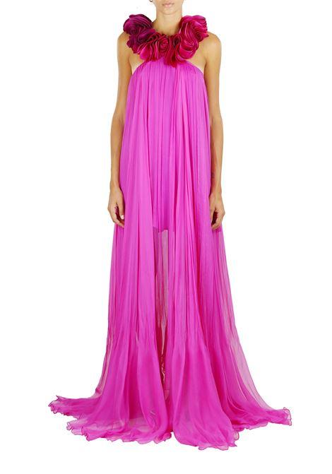 LONG SILK DRESS IRIS SERBAN | Dress | IRW8LAVINIAORCHIDEA