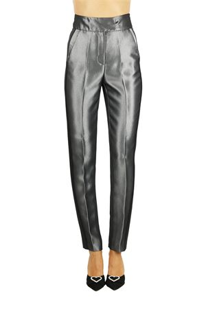 HIGH WAIST TROUSERS WITH SIDE BANDS L'EDITION | Pants | LE0683GRIGIO