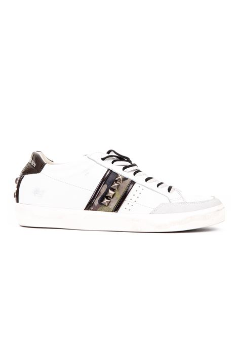 TRAINED LEATHER SNEAKERS AND SUEDE LEATHER CROWN | Sneakers | MLC178BIANCO